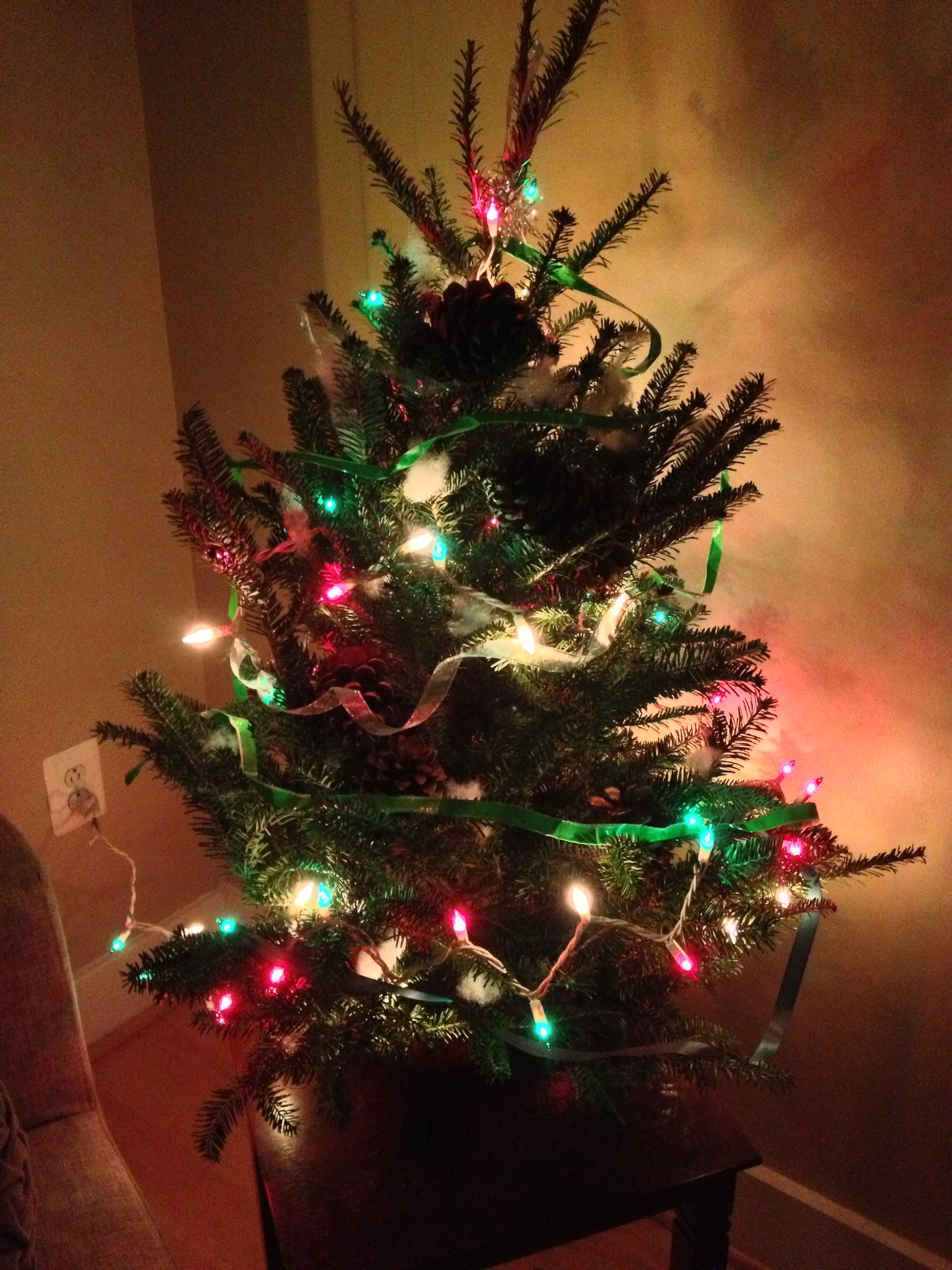 do you see the green duct tape in the christmas tree too what about the white stuffing yep i put that in the tree too kina went overboard on the - Little Christmas Tree