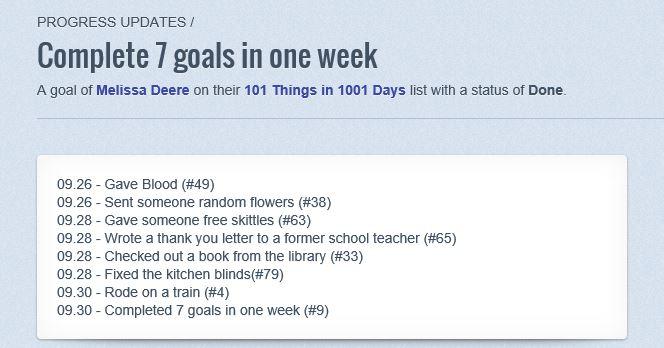 7 goals 1 week
